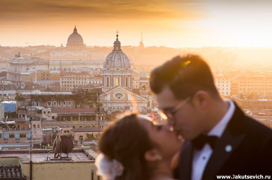 Где смотреть закат в Риме?