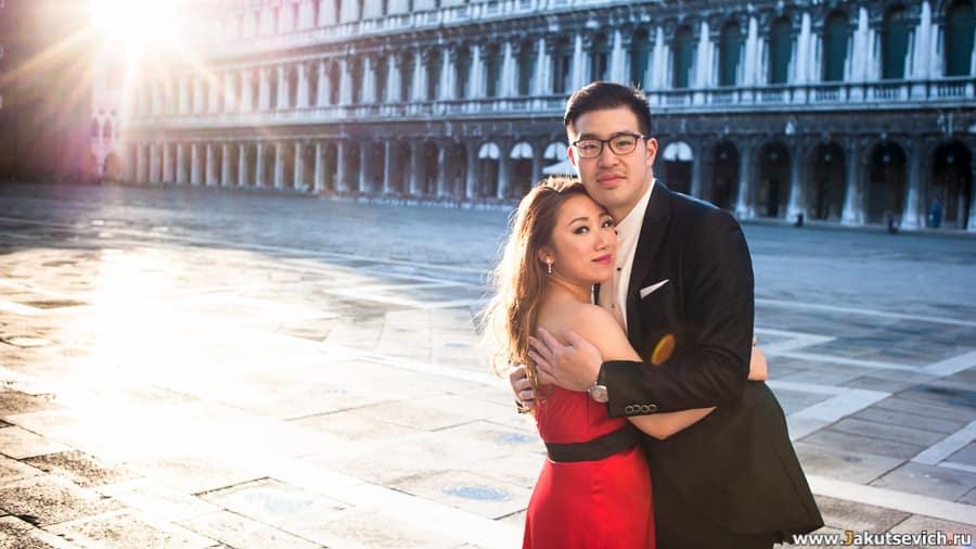 фотосессия в апреле в Венеции начинается в 7 утра