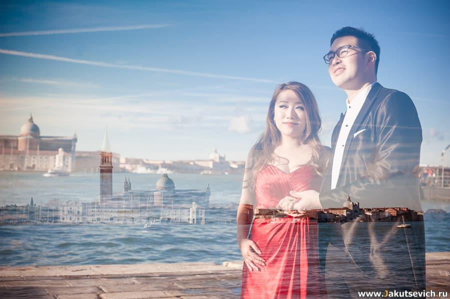 Фотосессия в Венеции перед свадьбой