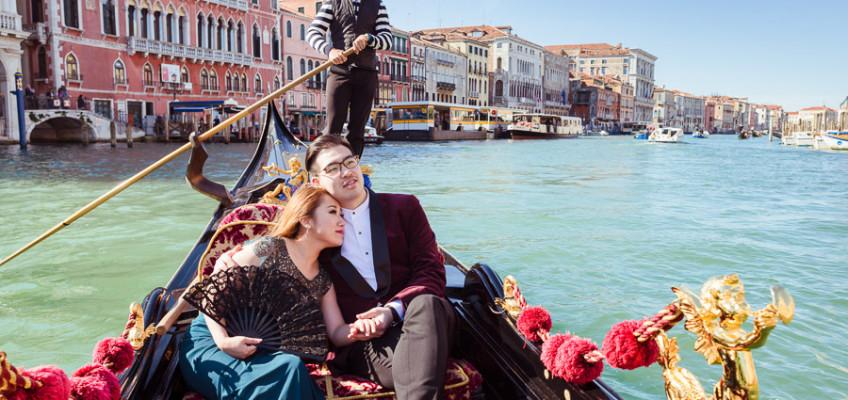 Фотосессия в Венеции – свадебное путешествие Карсона и Агнес