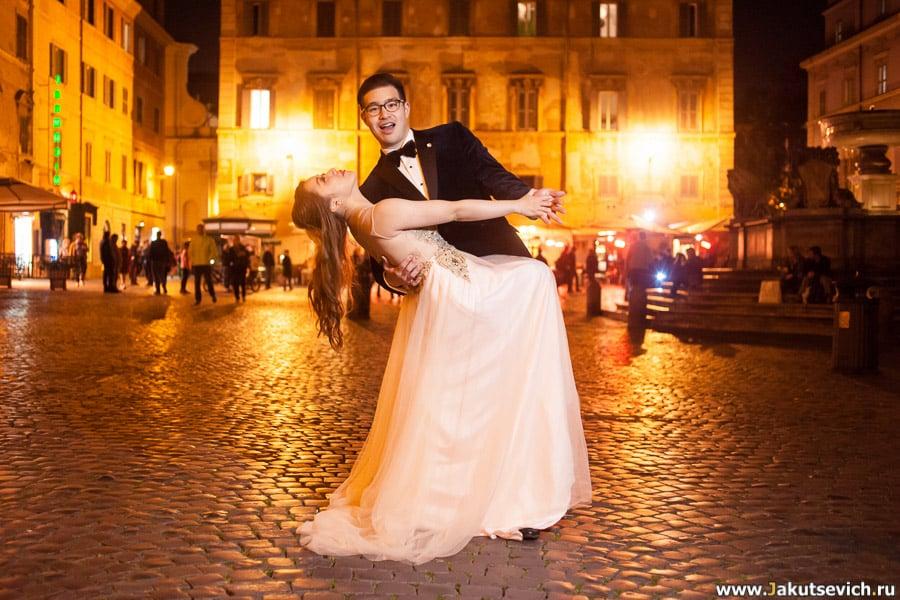 Ночная фотосессия в Риме
