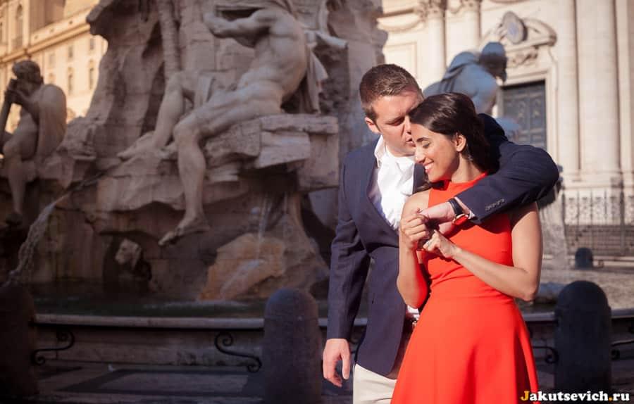 Медовый месяц и фотосессия в Риме в июне