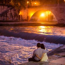 Гуляим и Гани: Ночная лав стори фотосессия в Риме в апреле