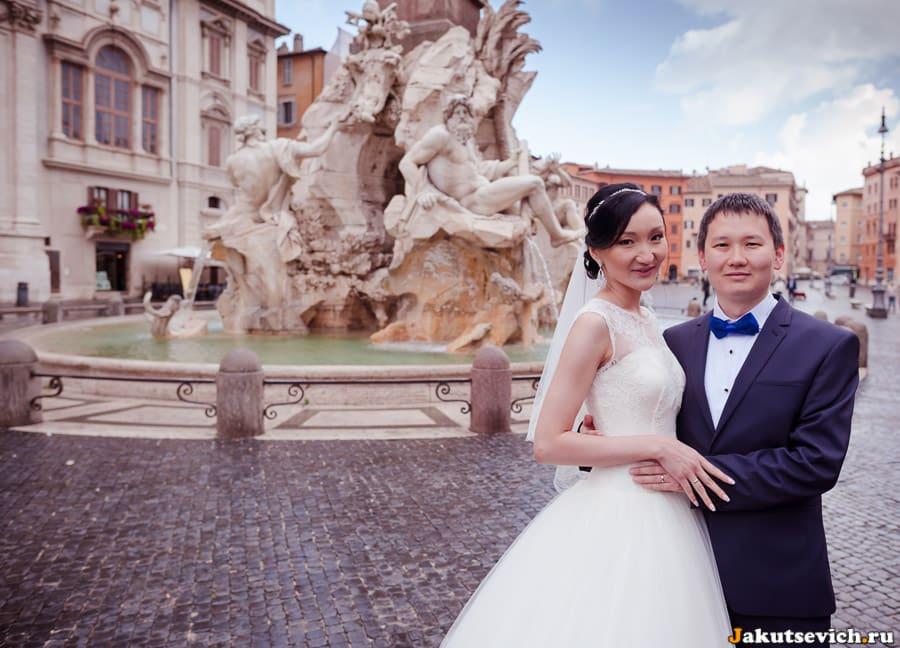 Свадебное путешествие в Рим из Казахстана