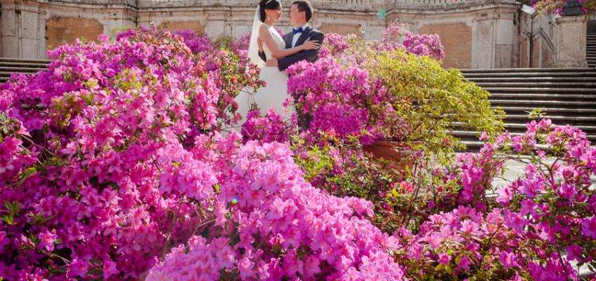 Гуляим и Гани: Свадебная фотосессия в Риме в апреле