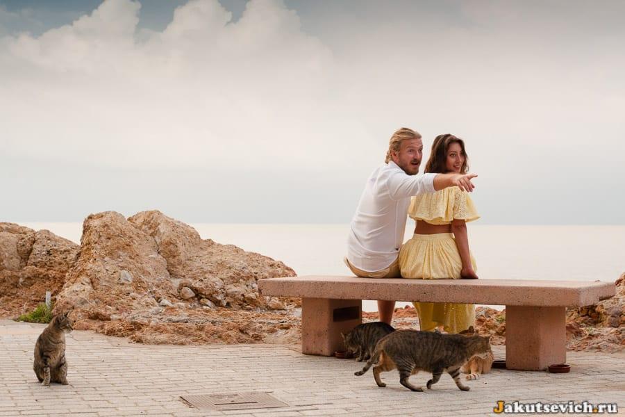 набережная Салоу и влюбленные – фотосессия на рассвете