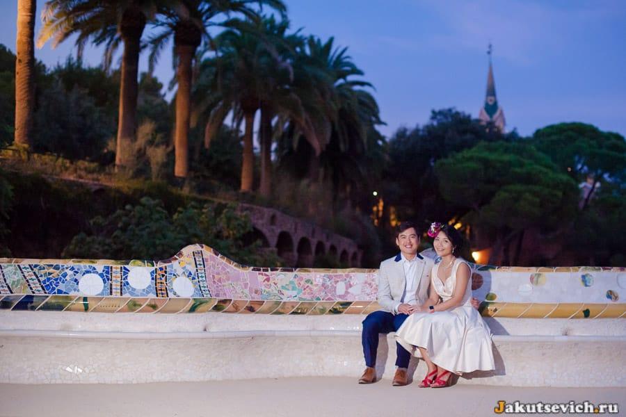 Влюбленные в парке Гуэля