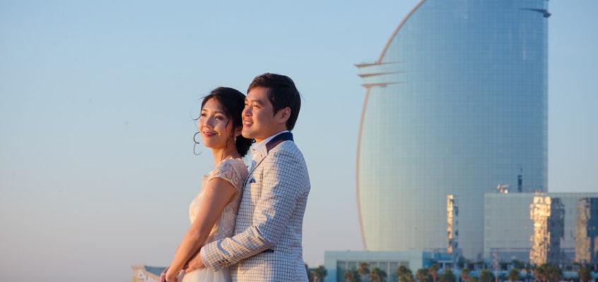 Свадебная фотосессия в Барселоне в сентябре для Вильяма и Каи