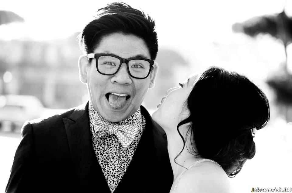 Веселый жених в Риме