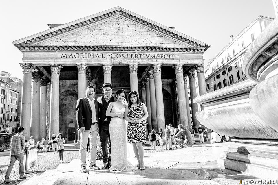 Семейные фото из Рима