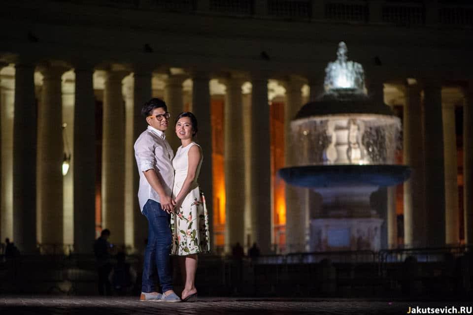 Фотосессия в Риме ночью