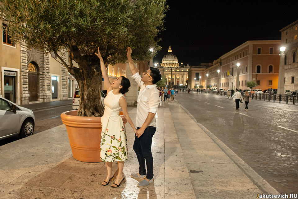 Дорога к Ватикану в Риме
