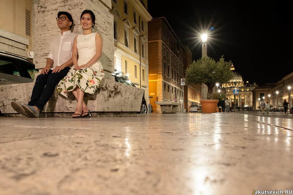 Красивые фото ночного Рима
