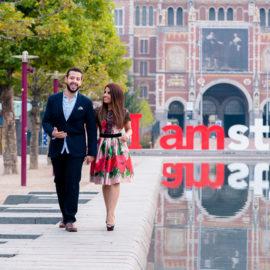 Фотосессия в свадебном путешествии в Амстердаме