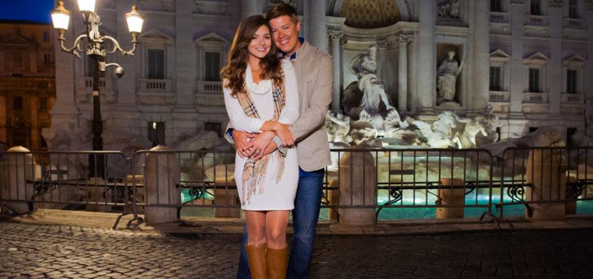 Фотосессия у фонтана Треви, Пантеона и Колизея в сентябре