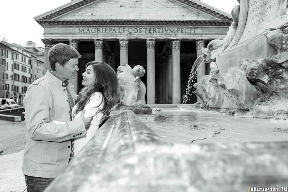 Романтическая фотосессия в Риме