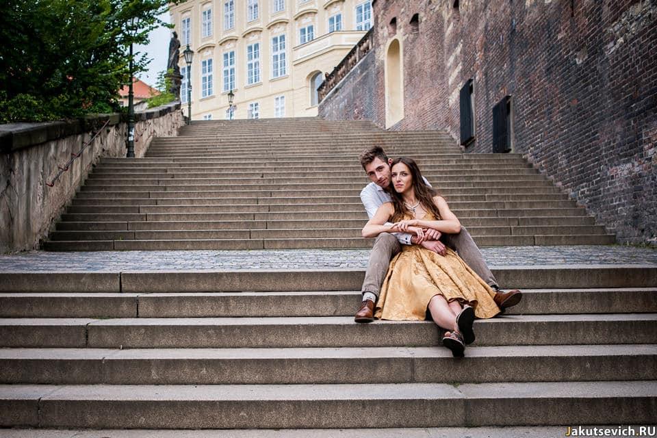 Влюбленные в Праге