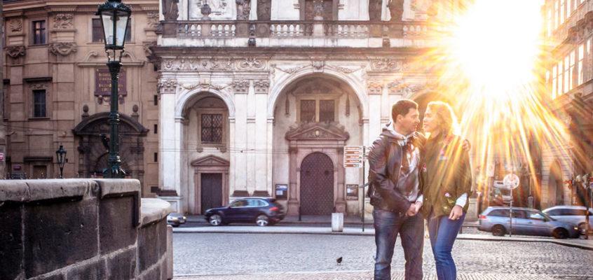 Фотосессия в Праге осенью для Дмитрия и Елены