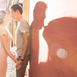 Помолвка в Праге: фотосессия для Петра и Алины