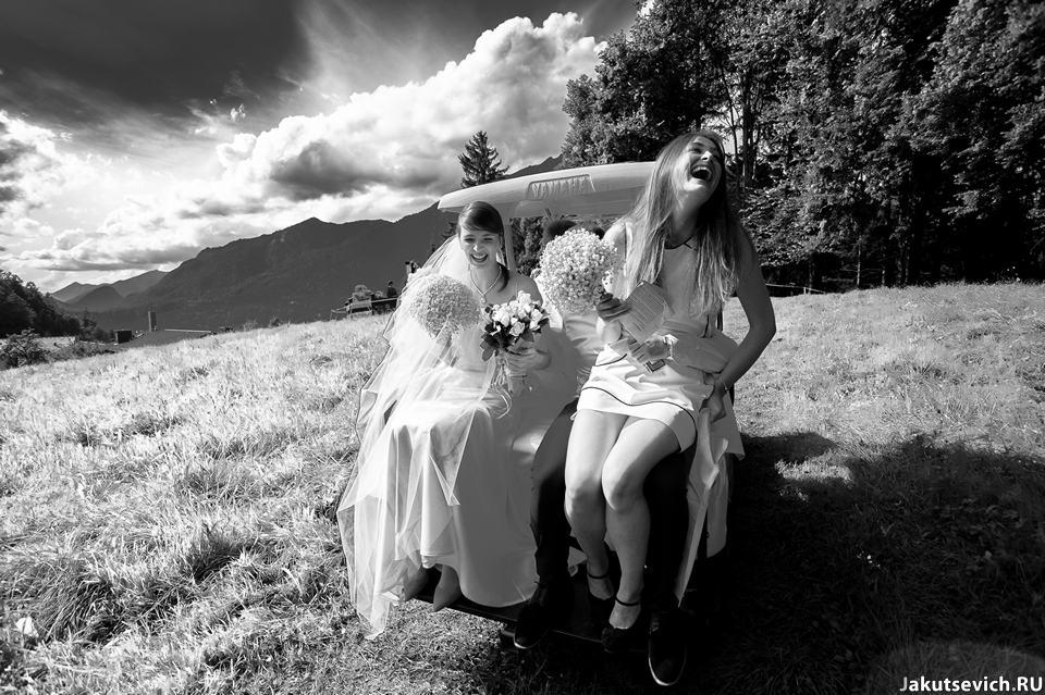 Свадьба в Альпах летом