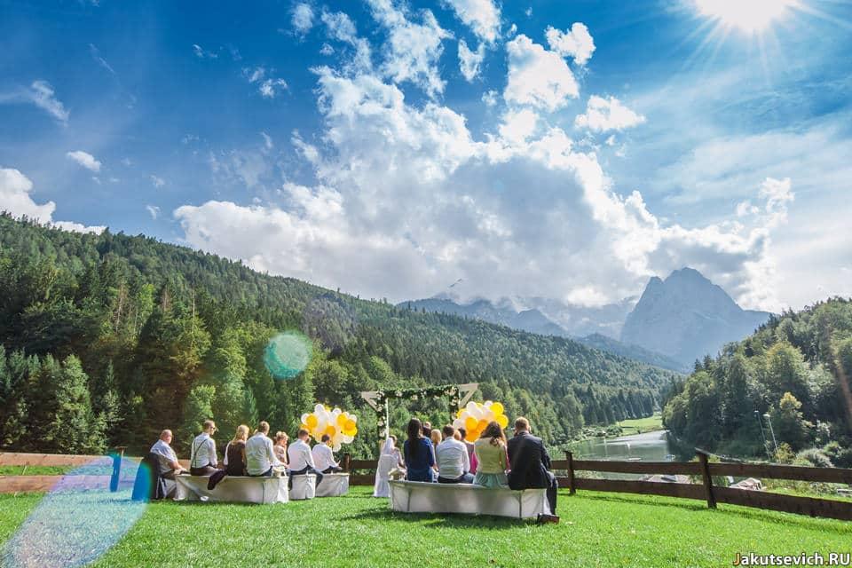 Альпийская свадьба в Германии