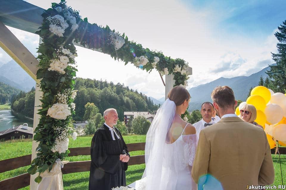 Родители невесты на свадьбе в Германии