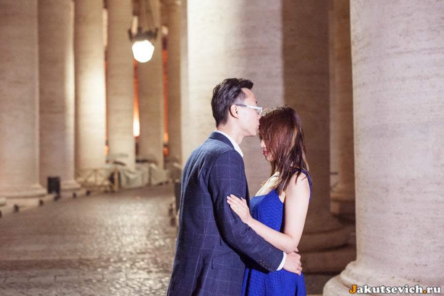 Лав стори фотосессия в Ватикане и Риме для Ванессы и Нико