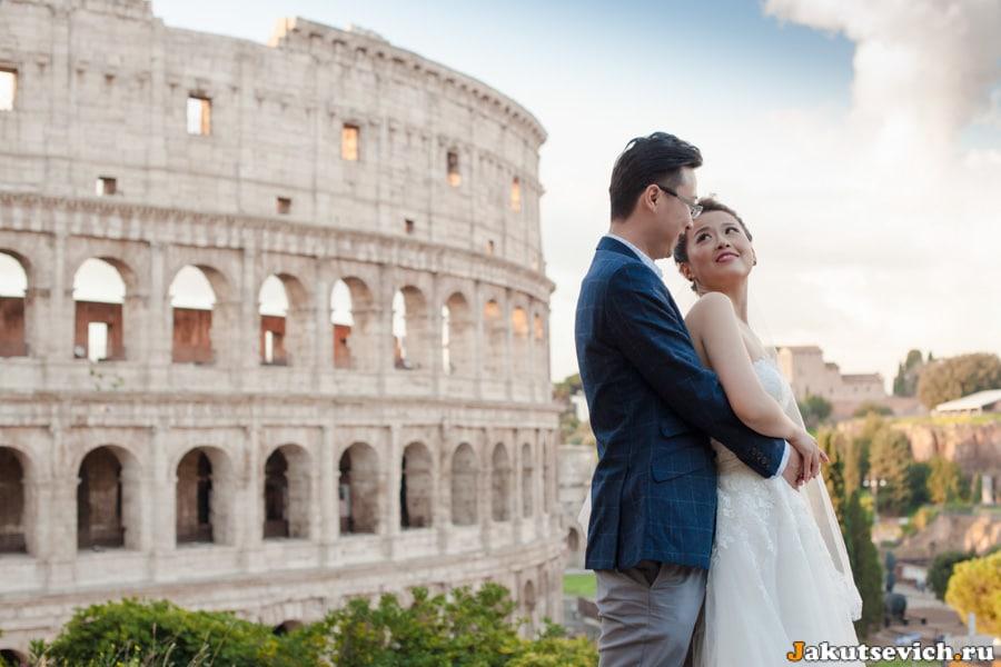 свадебная фотосессия у Колизея