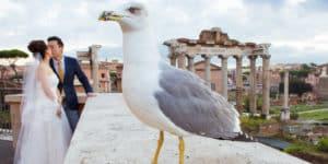 Свадебная фотосессия в Риме для Ванессы и Нико в октябре
