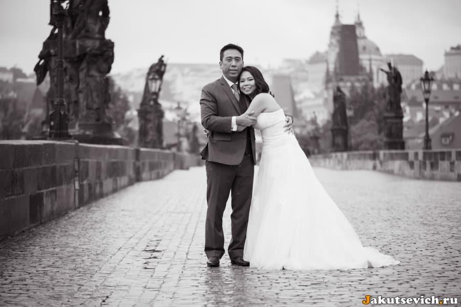 Свадебная фотосессия в Праге в октябре для Алвина и Дороти